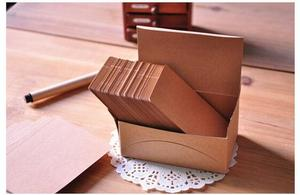 100pcs Double-sided Blank Kraft Paper Business Cards Word Card Message Card DIY Gift Card New Year