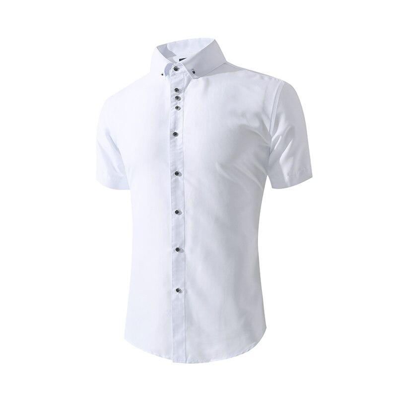 Camisas casuais brancas masculinas de manga curta camisa de verão masculina de manga comprida camisas de casamento masculina