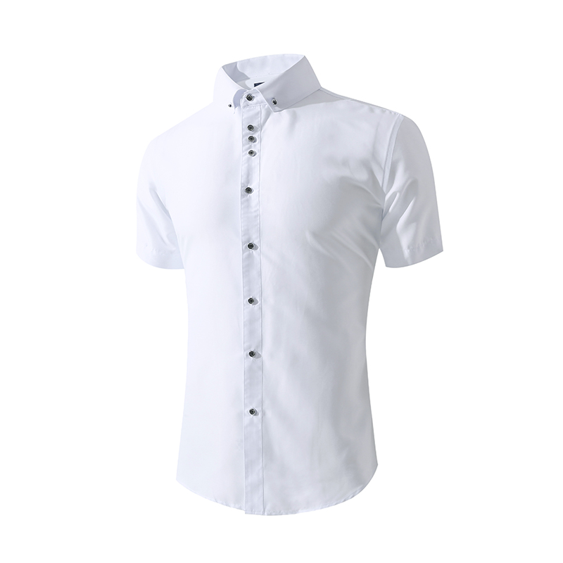 Men's White Casual Shirts Short Sleeve Slim Fit Men's Summer Shirt Long Sleeve Wedding Shirts Camisa Masculina