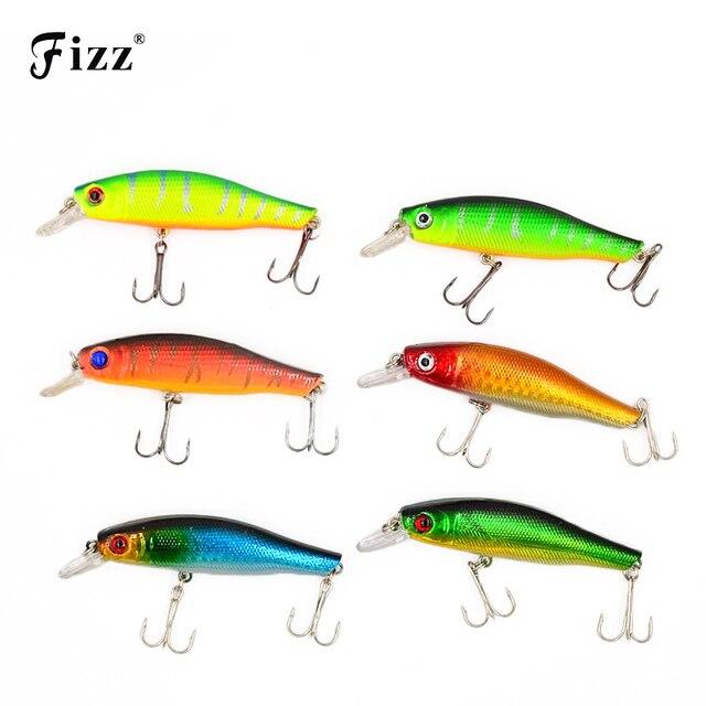 8.5cm 8.9g 3D Fish Eye Acoustic Fishing Lures Minnow Hard Plastic Artificial Lure SwimBait 6 Colors Reflective Fake Bait MI011