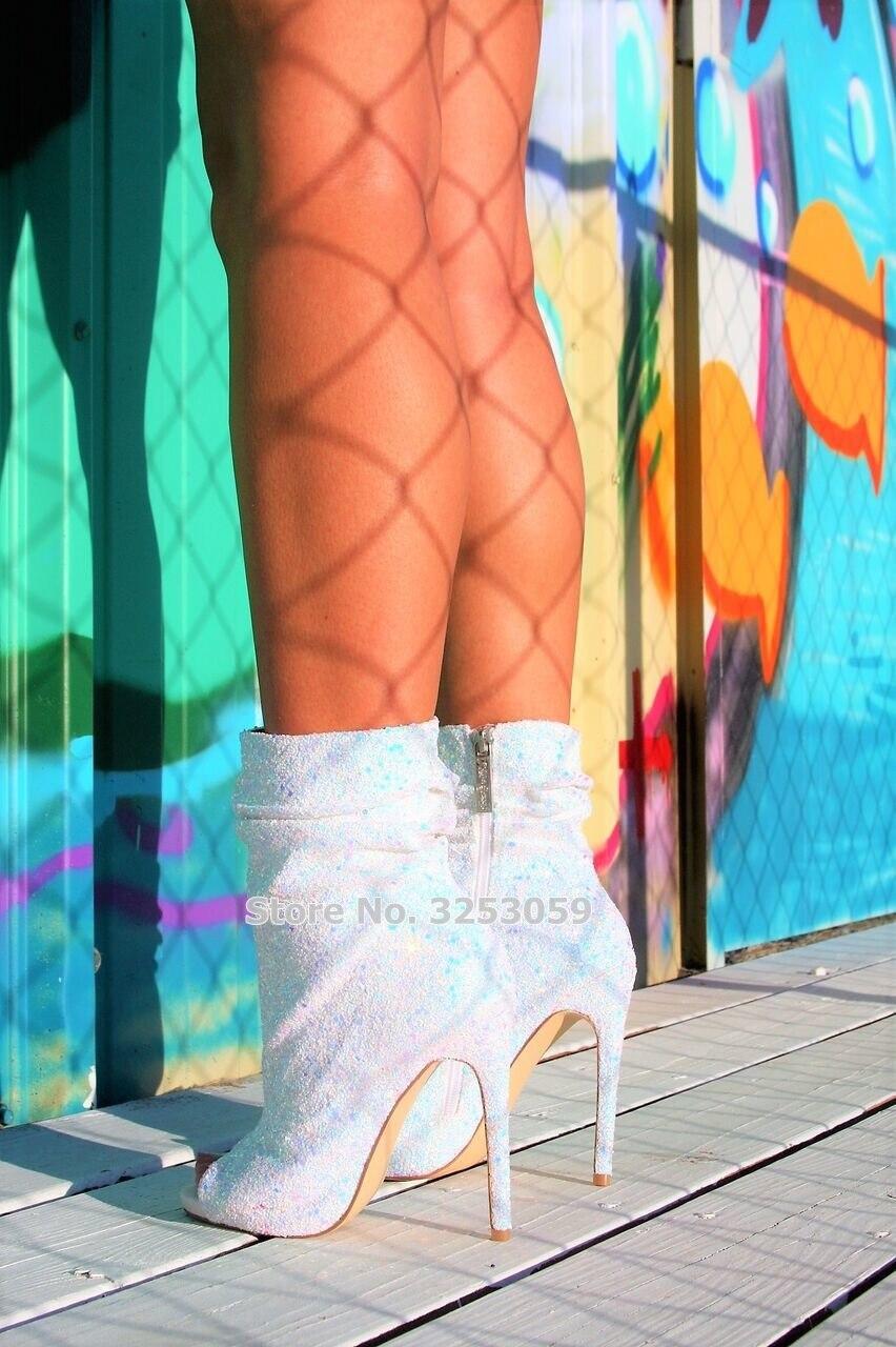 As Picture Arrivée Robe as Picture Chaussons Ouvert Blanc Paillettes Almudena Nouvelle Glitter Chaussures Noir Bout Talons Brillant Rose Stiletto Bling Pompes n0PXwOk8
