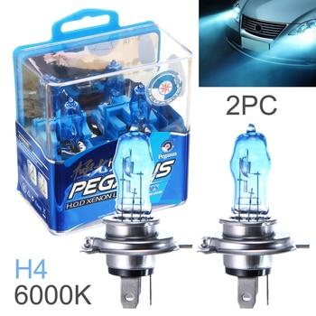2 Pcs DC 12V H4 100W 6000K White Light Super Bright Car HOD Halogen Bulbs Auto Front Headlight Lamp External Lights for Cars - discount item  25% OFF Car Lights