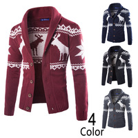 Christmas Sweater Men Autumn Winter Cardigan Mens Sweater Casual knitted Long Sleeve Jumpers Men Pull Homme Christmas Sweater
