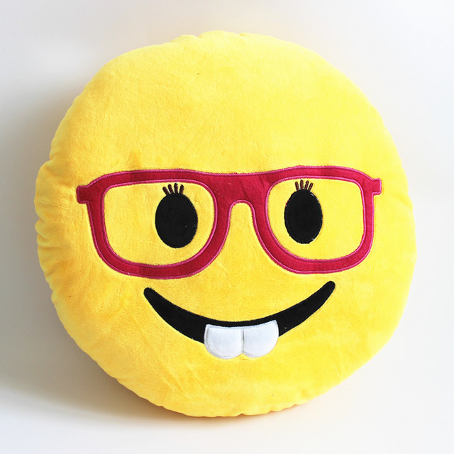 32cm high quality new emoji pillow teeth funny emoticon round cushion for sofa plush toy christmas