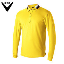 Men Golf Clothes 2017 New men's long-sleeved golf Shirts solid color lapel Slim Men's Golf Polo Shirts breathable Golf T Shirts