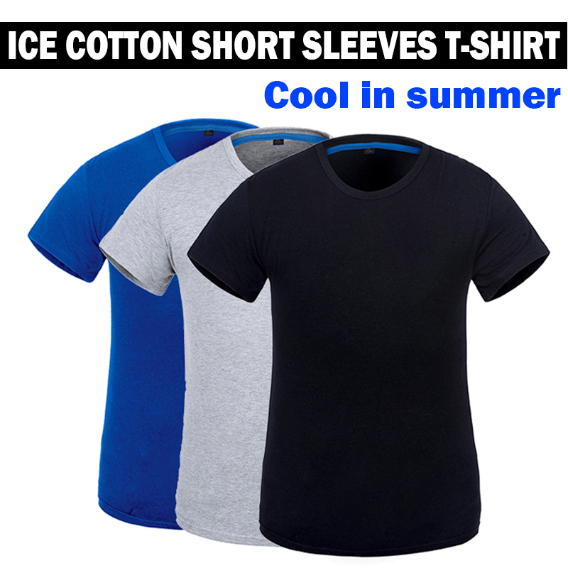 NEW mens work shirt working T-shirt short sleeves ice cotton fabric cool in summer grey black blue недорго, оригинальная цена