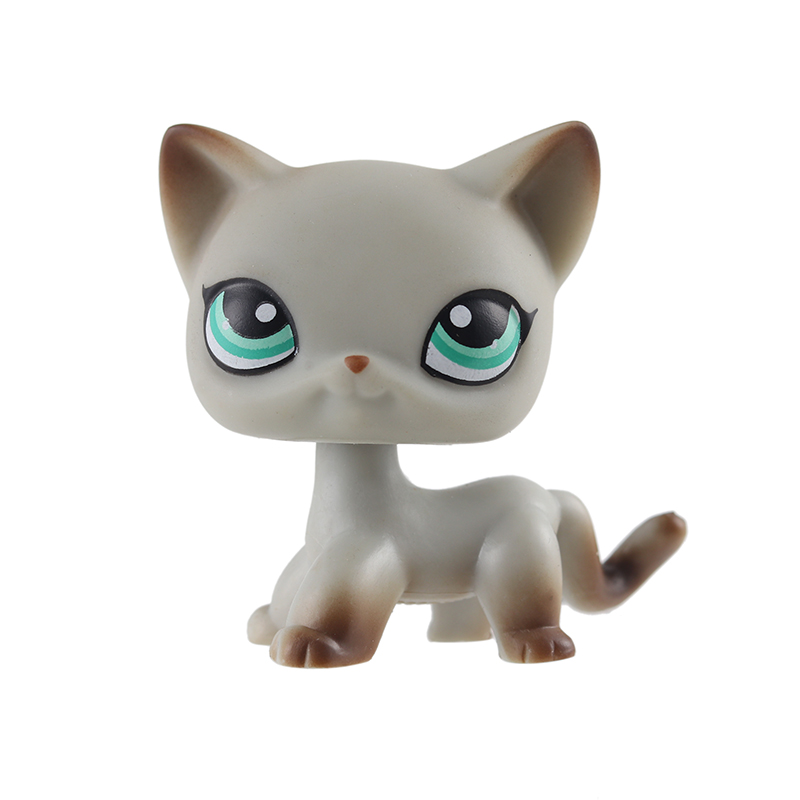 Expressive Real Rare Pet Shop Lps Toy Standing Short Hair Cat White Pink Black Dog Dachshund Collie Great Dane Free Shipping