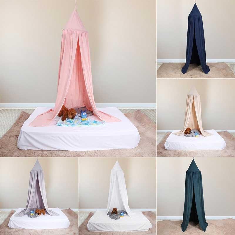 Coloré enfants garçons filles princesse lit à baldaquin enfants bébé chambre décoration lit rond rideau lit moustiquaire tente