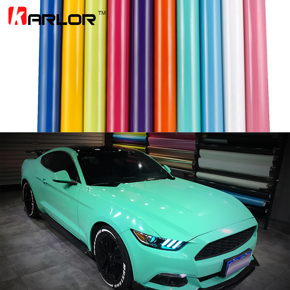 High Glossy Car Color Change Vinyl Film Warpping Motorcycle Car Stickers Accessories Waterproof Automobiles Bubble Air Free