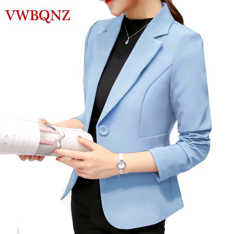 White Black Women Blazers And Jackets 2019 Slim Long Sleeves Office Lady Single Button Short Suit Jacket Female Femenino Blazer