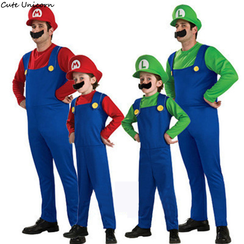 cute unicorn super mario luigi brothers cosplay costume funny fancy dress up party costumes. Black Bedroom Furniture Sets. Home Design Ideas