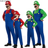 Cute Super Mario Luigi Brothers Cosplay Costume Funny Fancy Dress Up Party Costumes Adult Children Kids