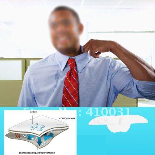 10x Disposable Collar Sweat Pads Adhesive Guard Sheet Liner Dress Shield Sweating Man Neck Tie Kollar Antiperspirant Deodorant