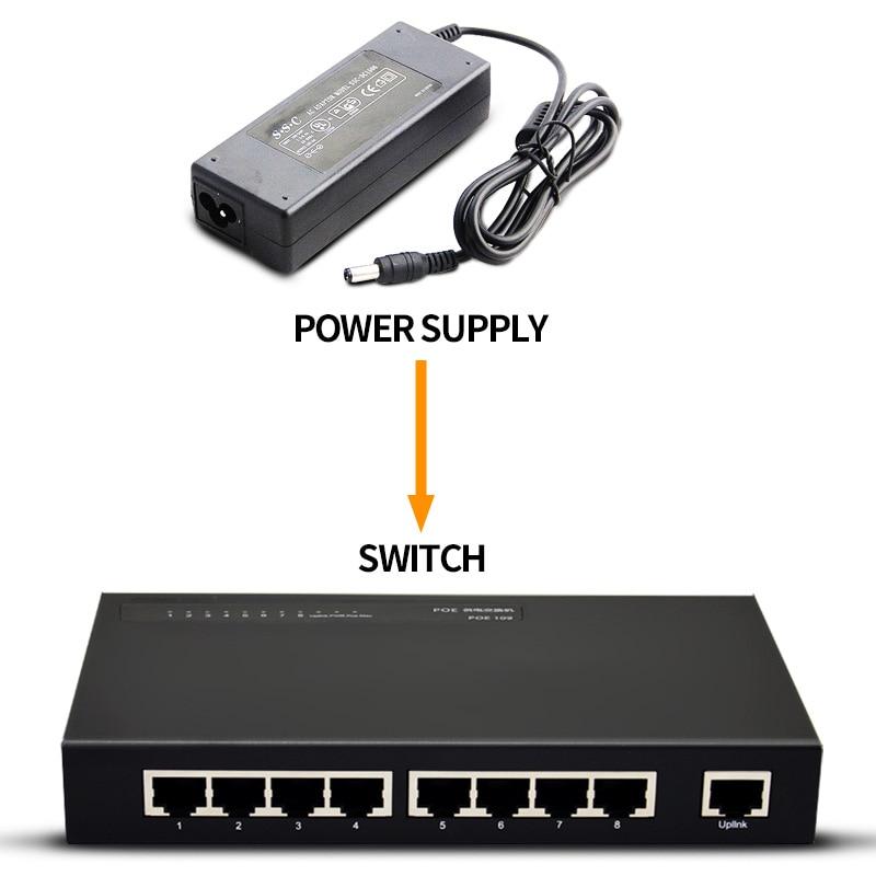 где купить SSC 9 port Standard PoE Switch  IEEE 802.3af ethernet Injector Power for Cameras/AP дешево