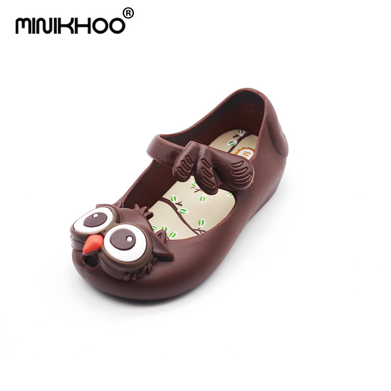 Mini Melissa Owl Girl Jelly Sandals Children Shoes Jelly Sandals MINI SED Brand Sandals  ...