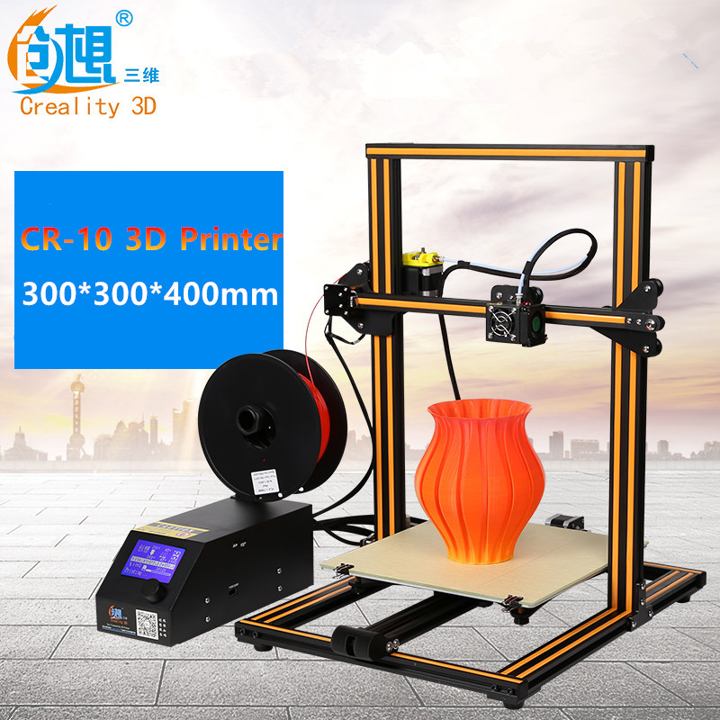 CRCREALITY 3D CR-10 DIY 3D Printer Kits Large Size 300*300*400mm Easy Assemble Printer 3D Filament SD Card,Tools As Gift newest mini creality 3d full aluminium structure cheap mini cr 7 3 d printer diy kit easy assemble 3d printer filament sd card