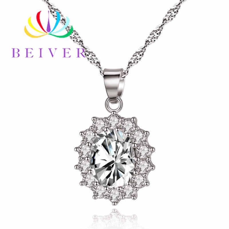 Collar de flores de circonio y AAA de 5 colores de moda para mujer joyería de boda de Color oro blanco para regalos de mujer