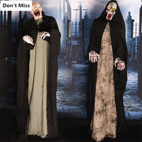 Halloween Scary Props Electric Standing Eyes Glowing Screaming Ghost Halloween Decorations Creepy Props Deaths Skull Ghosts Toys