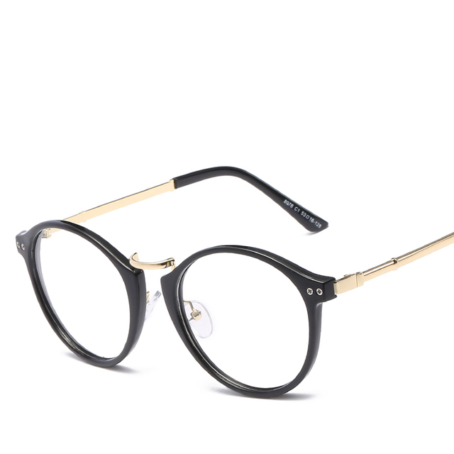 7ed360c662b Man Women Unisex Vintage Round Spectacles Frame Retro Computer Eyeglasses  Classical Optical Glasses Frames For Teenager L8078CJ