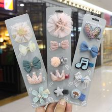 2019 New Fashion Pink Blue Bowknot Crown Heart Star Music Zircon Hair Pins For Kids Girls Birthday Party Gifts Jewelry Wholesale