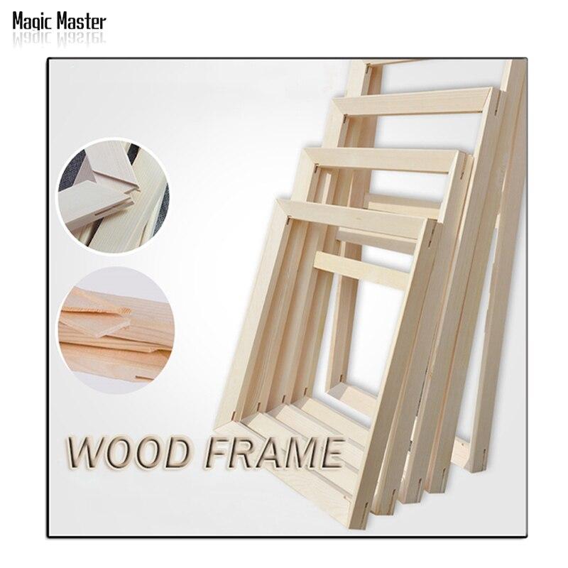 Marco de madera de precio de fábrica para todo tipo de pintura al óleo diy marco de madera convexo grueso Marco de pintura de pared marco de fotos Puerta de foto