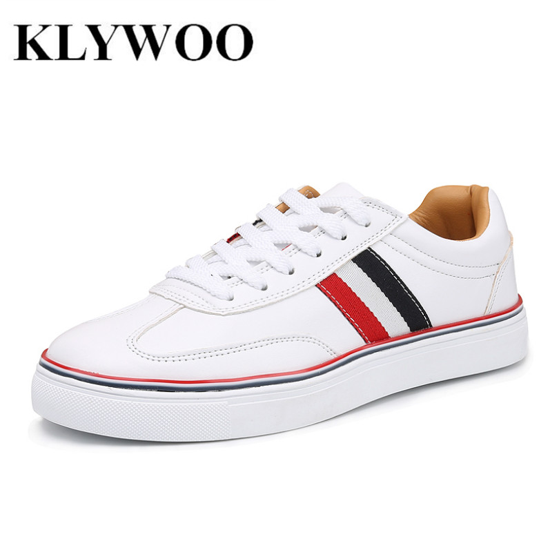 KLYWOO Big Size 39-46 Mens Shoes Breathable Leather Casual Shoes Men Luxury Brand Fashion Footwear White Men Shoes Sneakers 2017 new spring imported leather men s shoes white eather shoes breathable sneaker fashion men casual shoes