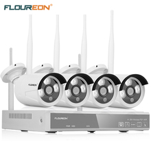 FLOUREON 4CH 1080P HDMI Wlan CCTV DVR NVR 4X Wireless 1.3MP 960P Waterproof Bullet Security Cameras Video Recorder NVR System