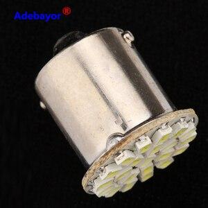 Image 2 - 100 個 1156 P21W BA15S 13014 22SMD led電球バックアップリバースライト使用ブレーキライトテールライトrvライト白アデバヨール