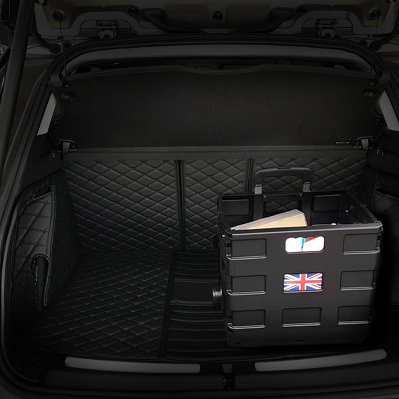 Car Trunk Folding Trolley Case Adjustable Trunk Storage Box Case For Mini Cooper S JCW One