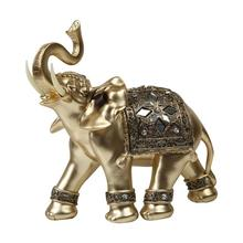 New Arrival Thai Feng Shui Elephant Resin Craft Gold Lucky Ornament Office Living Room Home Decoration Dropshipping