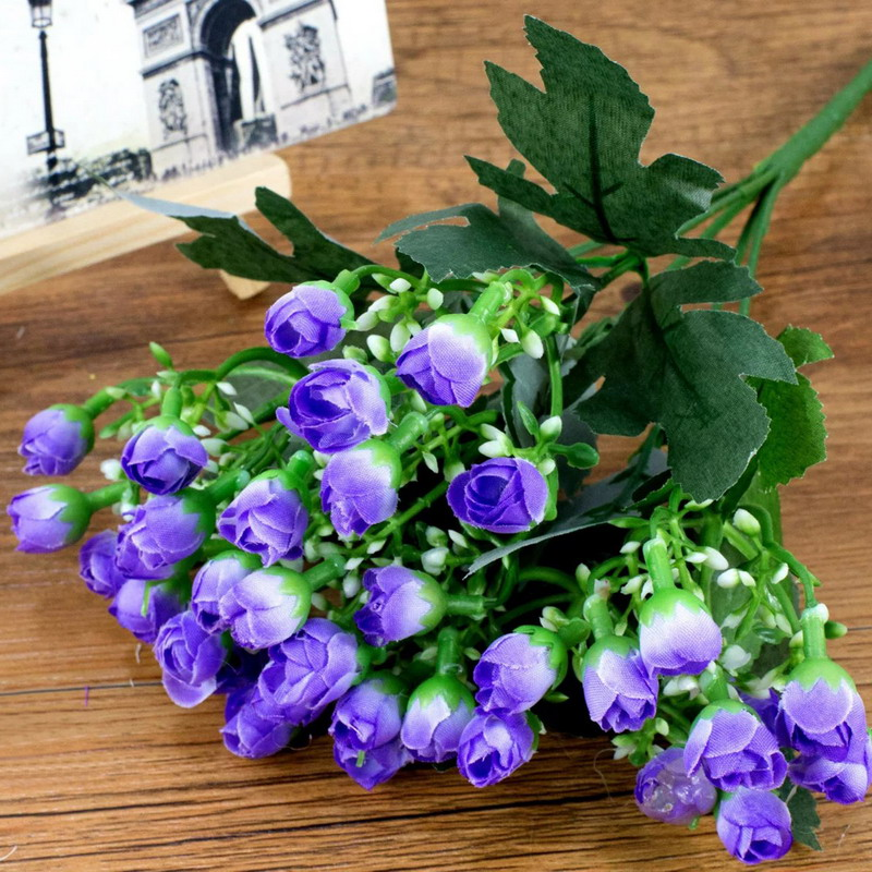 Blooming Artificial Flowers Decor Small Buds Simulation Silk Flowers Wedding Photo Decration Living Room Props