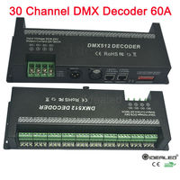 30 Channel DMX 512 Decoder With RJ45 And XLR Plug DMX512 Controller 60A Dmx Dimmer Driver