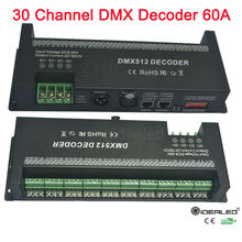 30 channel DMX 512 RGB decoder with RJ45 and XLR Plug DMX512 controller 60A dmx dimmer driver Max 1440W