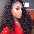 7А Перуанский Глубокая Волна Роза Волосы 100% Девственные Волосы meches Peruviennes Волос Weave 3 Связки Дешевые Перуанский Deep Вьющиеся Девы волос