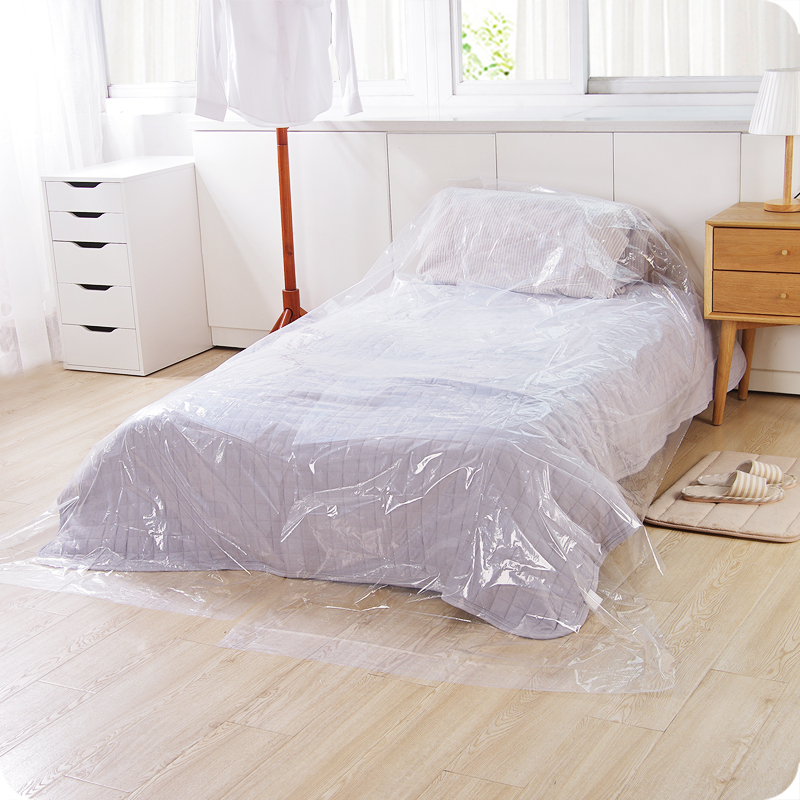 Multifunction Plastic Transparent Dust Cover of bed sofa furniture Outdoor Waterproof Cover цена
