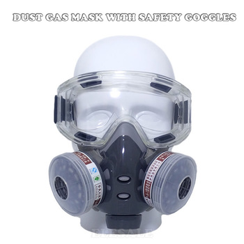 Professional Half Face Gas Dust Mask With Wide Vision Safety Goggles Carbon Filtering Cartridge For Spraying Painting Work Safe - discount item  25% OFF Workplace Safety Supplies