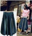 Lo nuevo de La Vendimia Señoras de la Manera faldas de mezclilla, Todo-Fósforo ocasional de las mujeres pantalones vaqueros azules faldas Y629 casual wear envío gratis