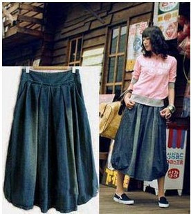 Newest Vintage Fashion Ladies denim skirts All match women s casual skirts blue jeans skirts casual
