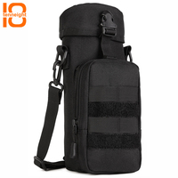 TENNEIGHT tactical kettle bag Nylon Waterproof outdoor sports climbing Zipper Camo Water Bottle Bag Military Bag crossbody bag