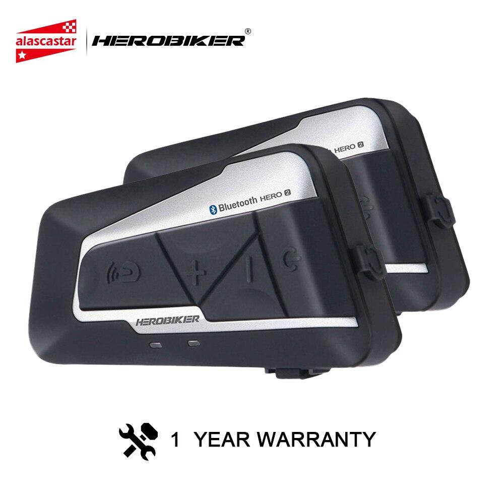 HEROBIKER мотоциклетный домофон шлем водостойкий беспроводной Bluetooth домофон мотоциклетная гарнитура Interphone для 2 аттракционов 1200 м шт.