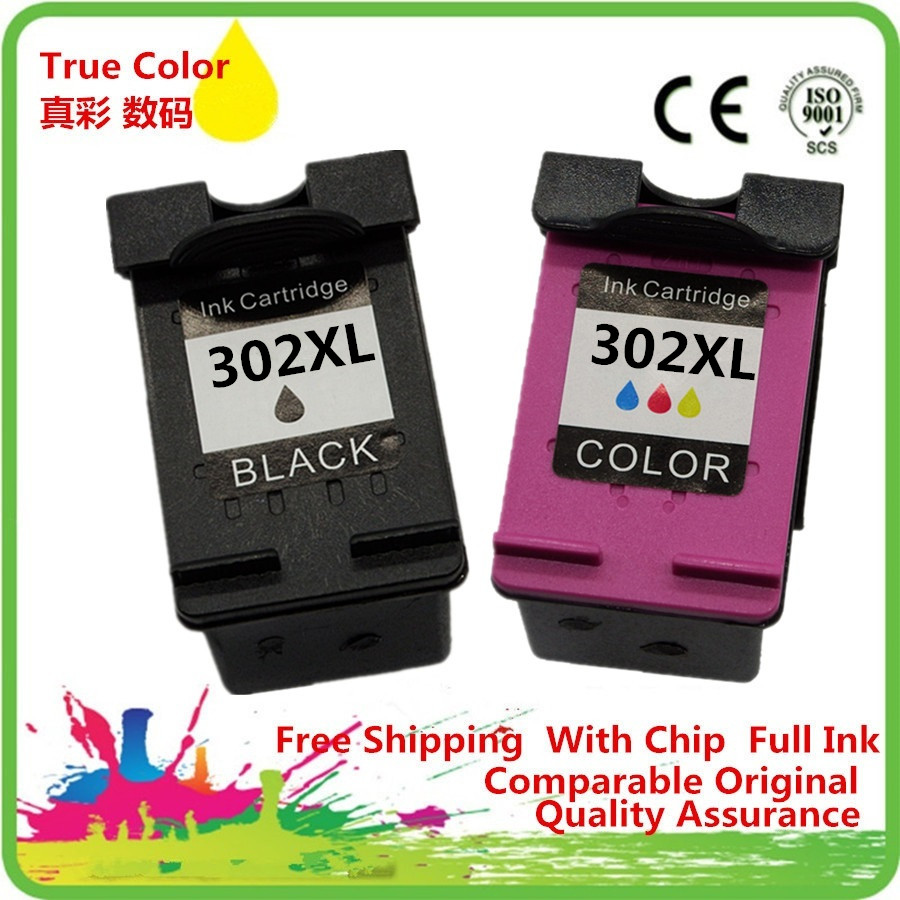 1 Set 2 Pack Ink Cartridges Remanufactured For HP 302 XL HP302 HP302XL 302XL Deskjet F2438 F4288 F4488 D1668 D2568 D2668 D5568 2016 new [simon hisaint ink ]applicable hp hp818 cartridges d1668 d2568 f4288 2668 hp818xl excess capacity of 2668 classic