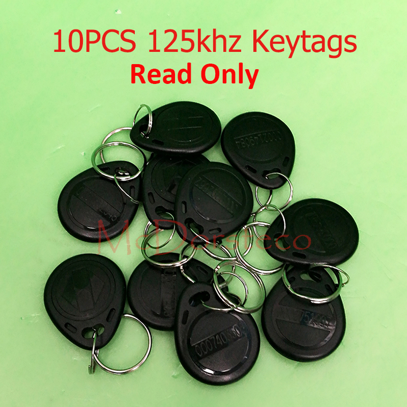 10 pcs TK4100 Read only 125kHz RFID ID Card Key Keyfobs Access Control Tag Black/Yellow/Red/Blue/Green Access Control Key Only non standard die cut plastic combo cards die cut greeting card one big card with 3 mini key tag card