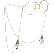 Fashion Vintage Style Eyeglasses Chain Glasses Sunglasses Cord Holder Claw Necklace Chain String Cord for Women vintage green oval pvc plastic ouch neck eyeglasses chain sunglasses retainer holder for women sport travel exercise