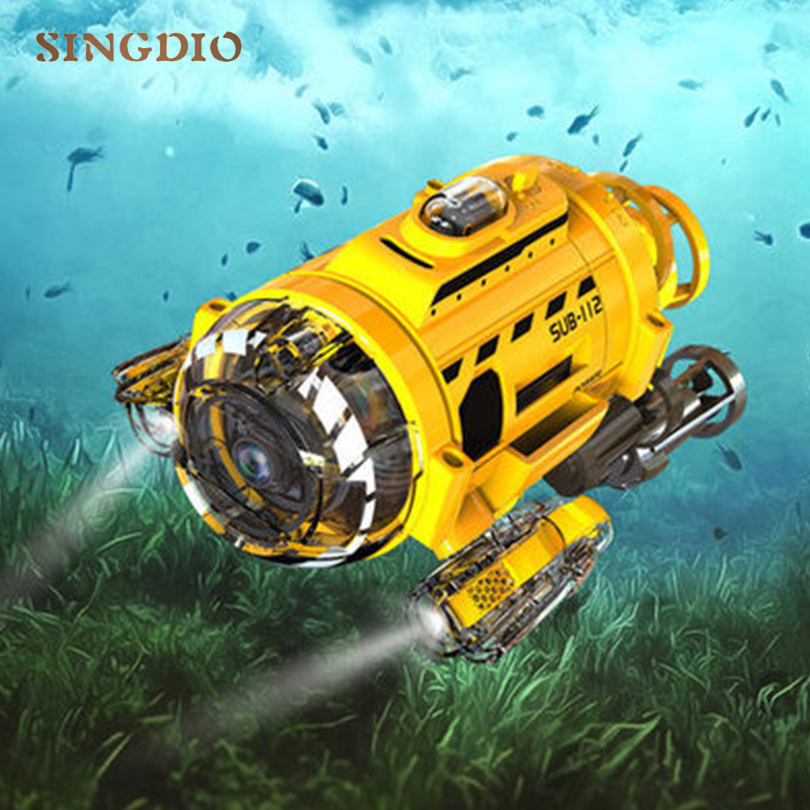 New Design RC Mini Submarines Model Up To 4M Under Water Ship Children Learning Tools Birthday Gifts Remote Control Toys For Kid