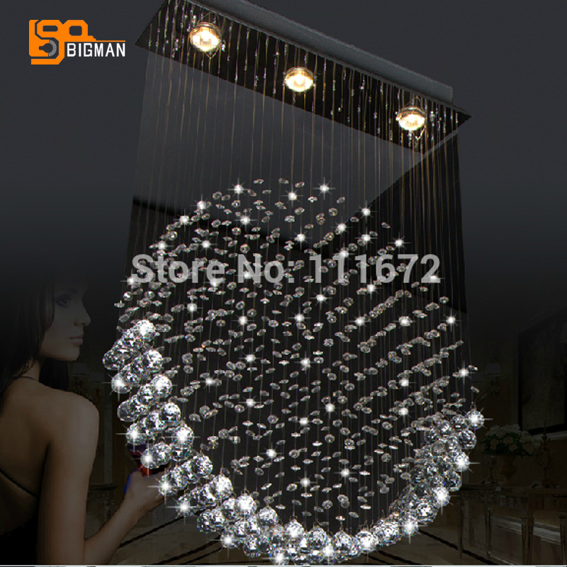 new item modern crystal chandelier of living room lustre de cristal lampe free shipping free shipping l100cm w20cm h150cm crystal chandelier modern living room kroonluchter lamparas de cristal led pendant lighting