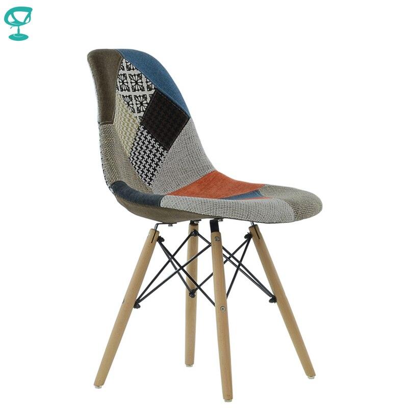 95275 Barneo N-12 tissu Patchwork bois cuisine petit déjeuner intérieur tabouret Bar chaise cuisine meubles livraison gratuite en russie