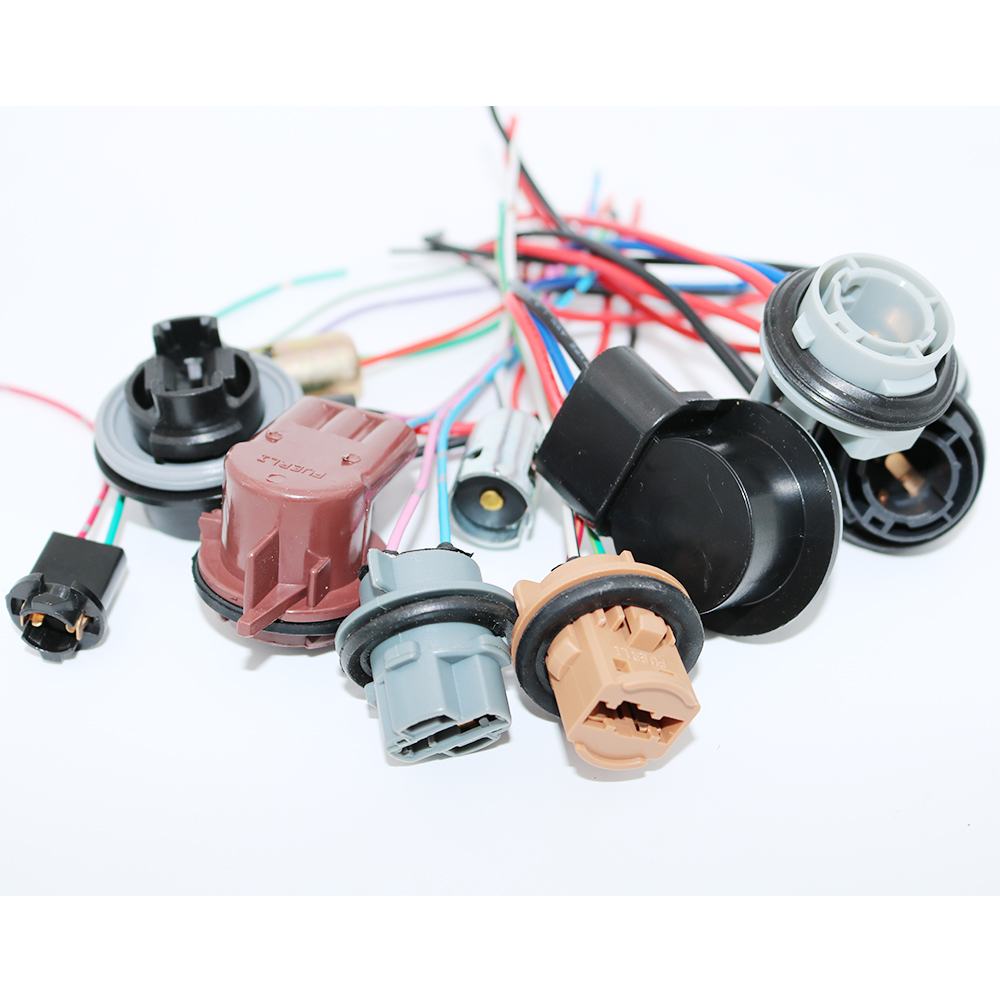 hight resolution of ysy 4pcs 3156 3157 3357 4157 car led bulbs lamp socket adapter connector harness wiring for