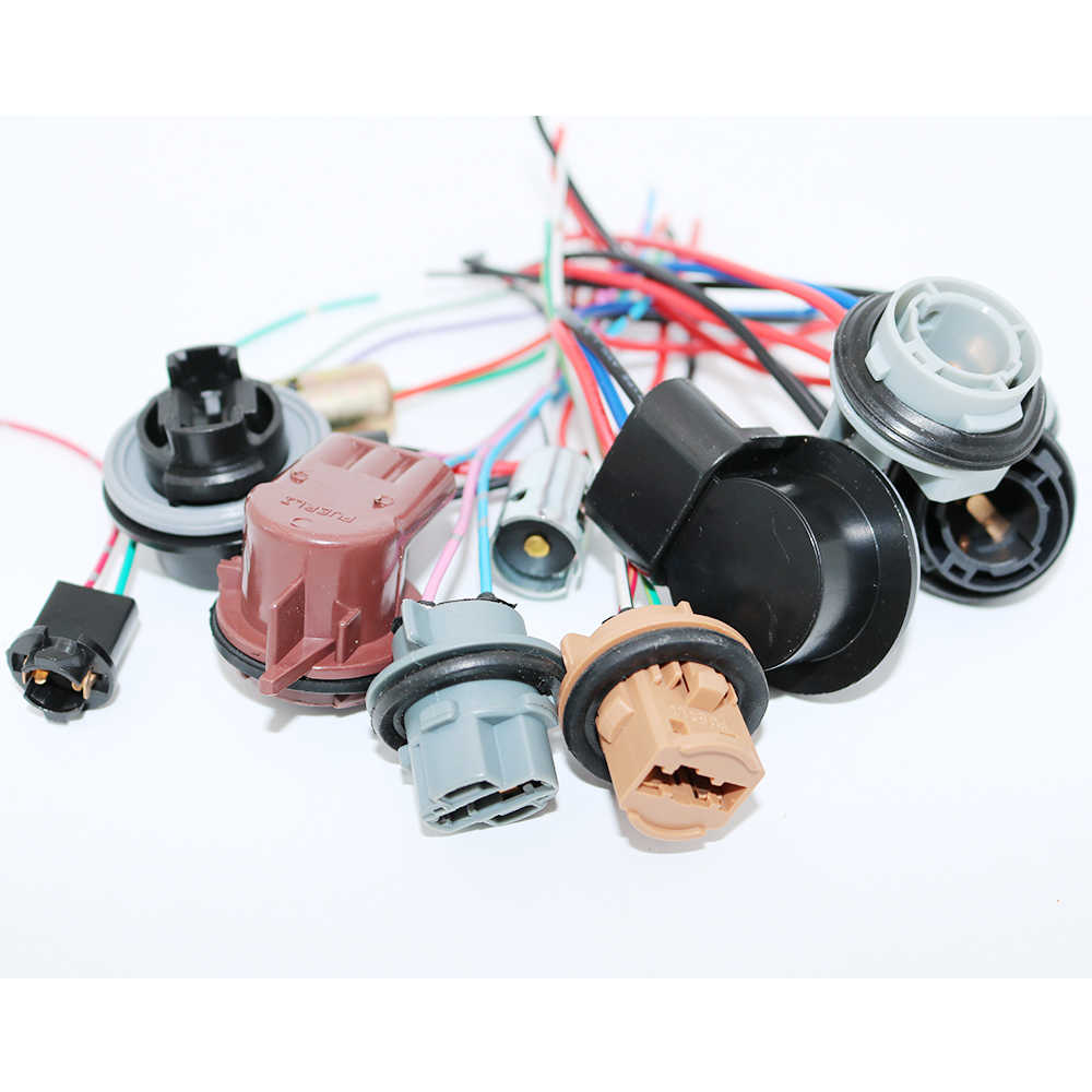 small resolution of  ysy 4pcs 3156 3157 3357 4157 car led bulbs lamp socket adapter connector harness wiring for