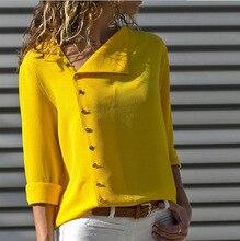 купить plus size top women blouse fashion female ladies clothing skew collar long sleeve sexy womens shirt top дешево