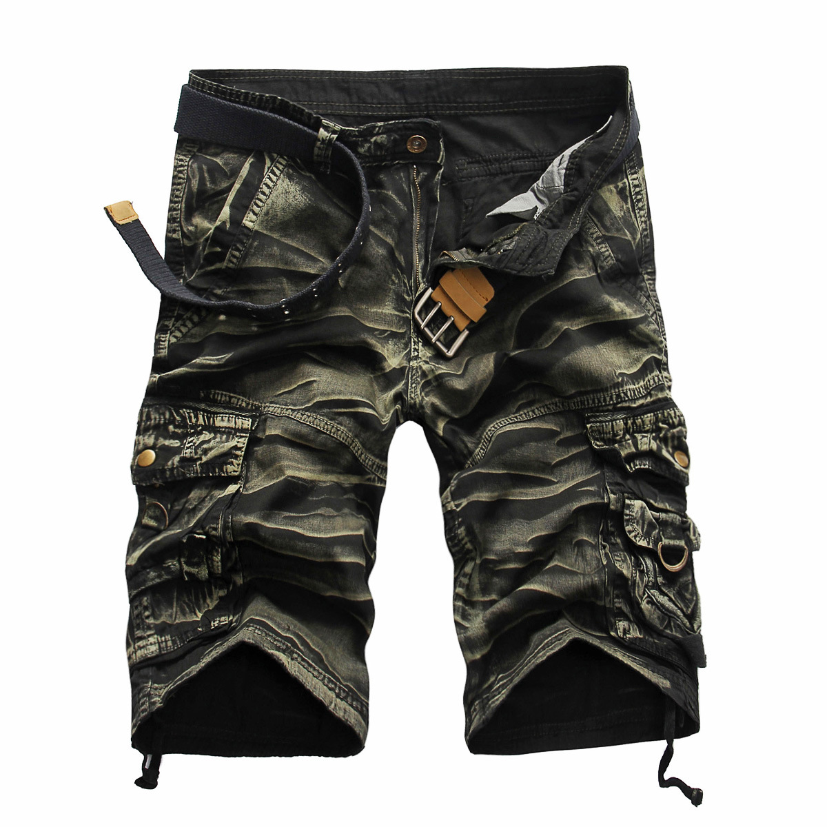 2018 Cargo Shorts Men Hot Sale Casual Camouflage Summer Brand Clothing Cotton Male Fashion Army Work Shorts Men Plus Size 29-38